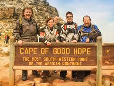 At Cape of Good Hope with motorbikes