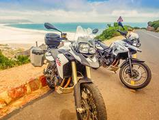 Motorcycles on tour in South Africa