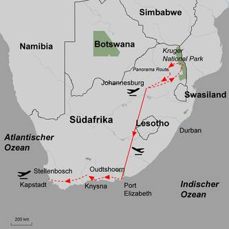 Tour map of Lion roar in The Kruger